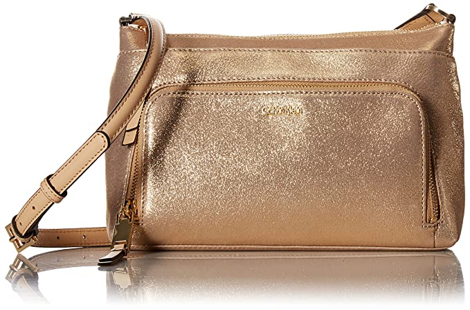 Amazon.com: calvin klein Suede cierre superior Crossbody ...