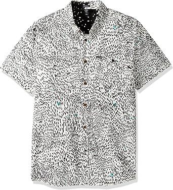 Volcom Hombre A0431702 Camisa con Botones - Blanco - Medium: Amazon.es: Ropa y accesorios