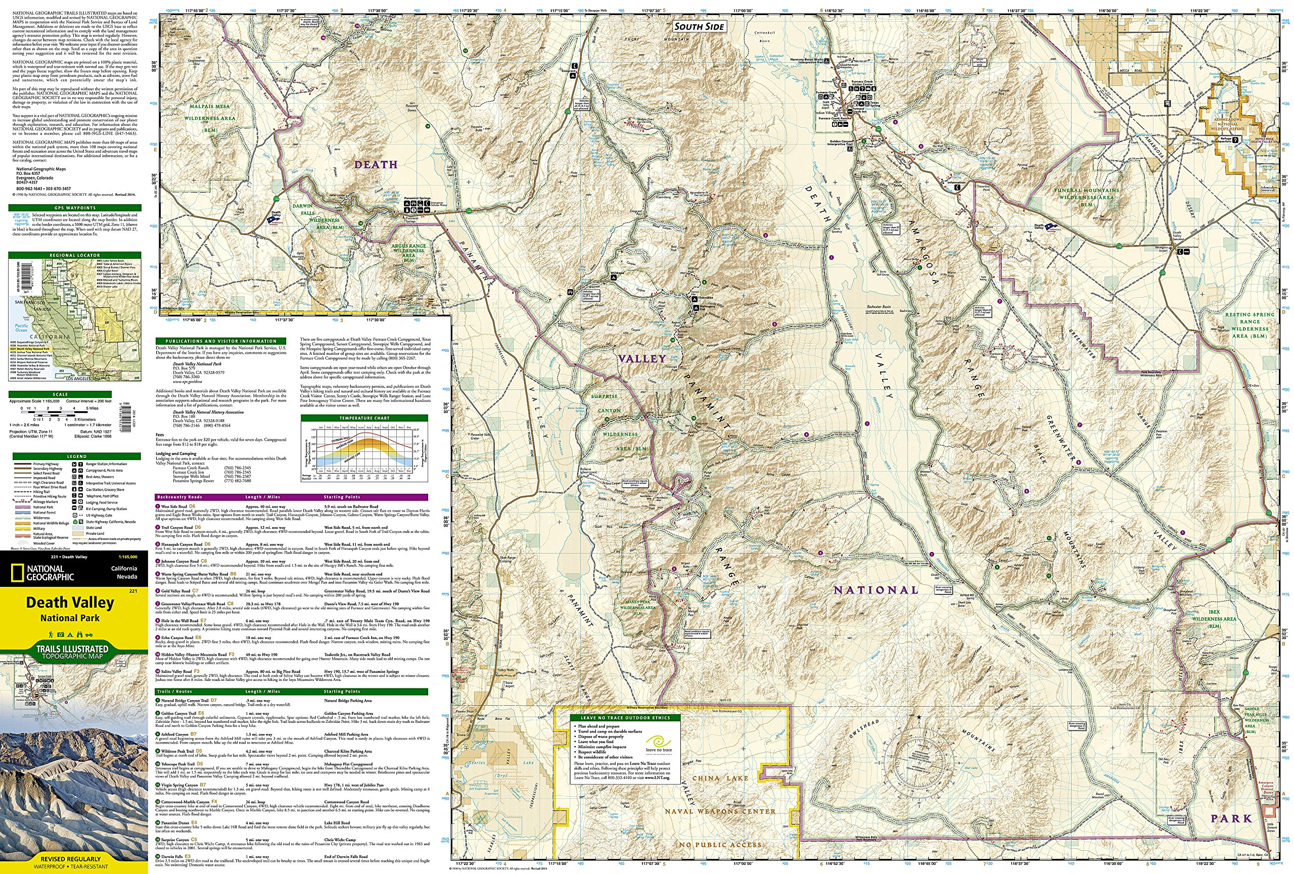 Death Valley National Park National Geographic Trails Illustrated
