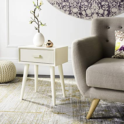 Safavieh Acc5702a Liviah Accent Side Table Antique White