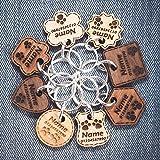 Holz Hundemarke | Katzen-Tag | Personalisierte Haustier ID | Graviert mit Name und Telefonnummer | 6 Massivholzarten | 8 Formen | 3 Größen | Dicke - 3mm/5mm ❤