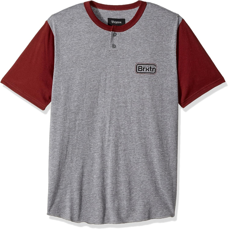 BRIXTON Hombres Manga Corta Camisa Polo - Gris - L: Amazon.es: Ropa y accesorios