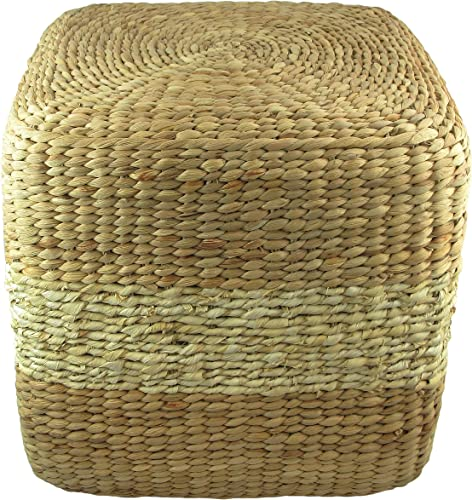MagJo Natural Woven Sea Grass Pouf