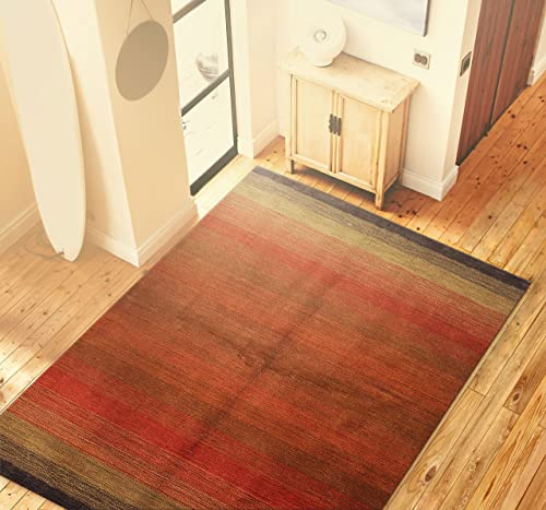 Bashian Contempo Collection ALM195 5X7.6 Hand loomed 100 Wool Area Rug