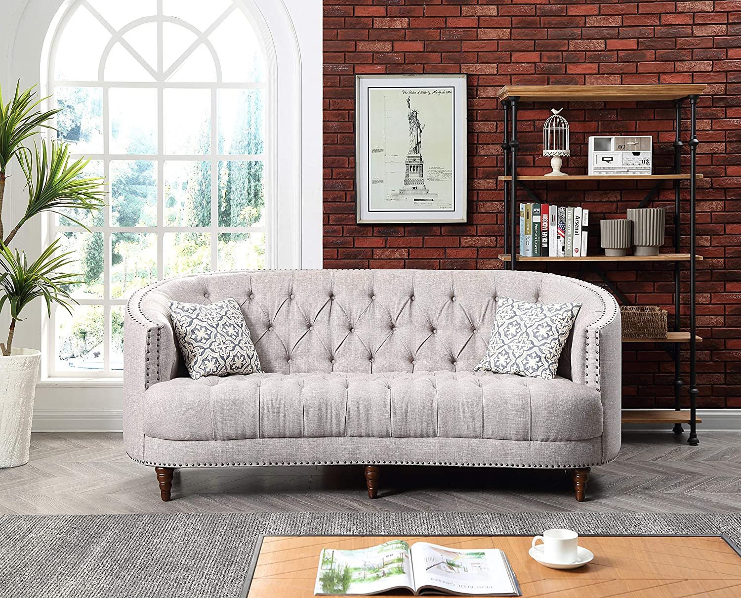 Amazon.com: Glory Furniture Charleston G850-S Sofa, Light ...