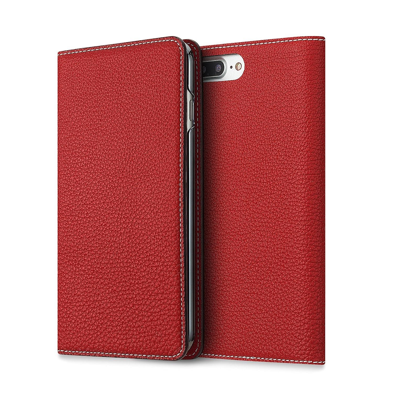 BONAVENTURA ボナベンチュラ iPhone 7Plus ケース (5.5インチ) ドイツ製本革 牛革 手帳型 (レッド)