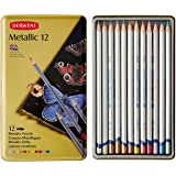 Derwent Watercolor Pencils, Metallic, Water Color, Drawing, Art, 12-Pack (0700456)