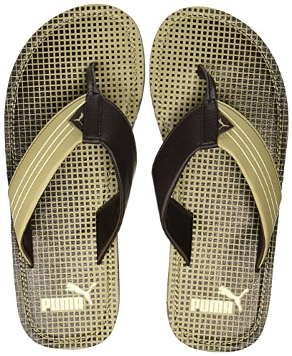 c49a70411088 Puma Men s Ketava Graphic Chocolate Brown-Pale Khaki Flip Flops Thong  Sandals-10 UK