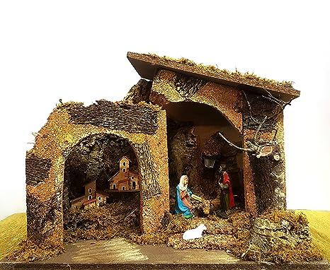 Immagini Capanne Natalizie.Presepe Di Natale Capanna Con Luci Nativita