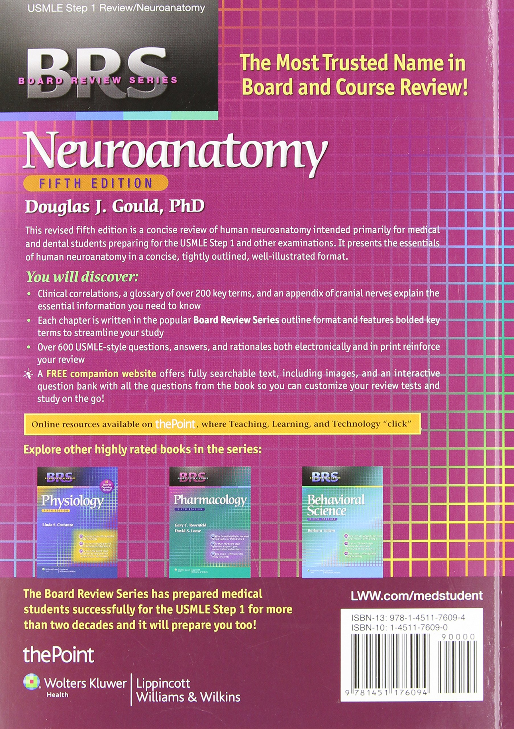 Brs Neuroanatomy Douglas J Gould Phd James D Fix Phd