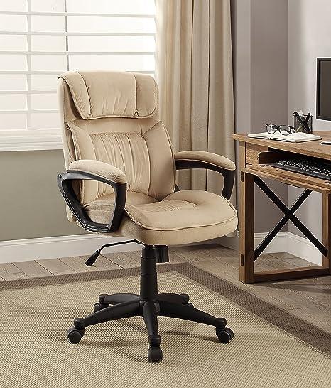 Amazing Serta Style Hannah I Office Chair, Microfiber, Light Beige