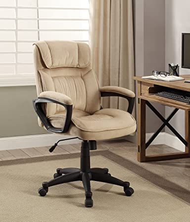 serta style hannah i office chair microfiber light beige