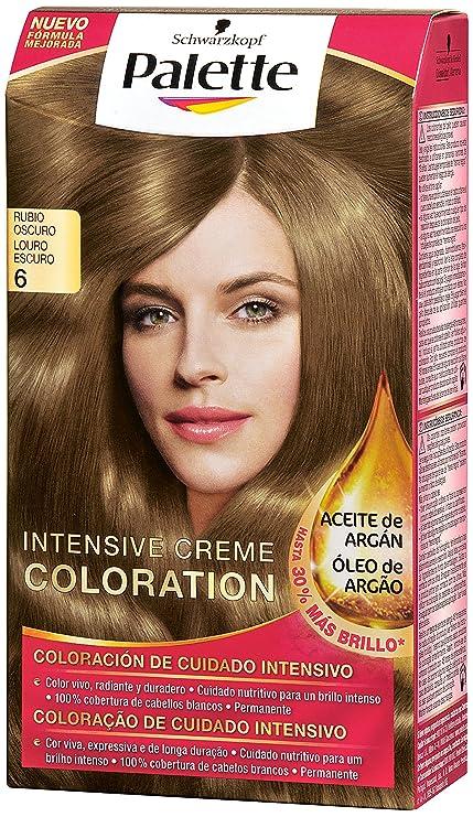 Palette Intense Color Cream Coloración Permanente, Tono 6 Rubio Oscuro - 115 ml