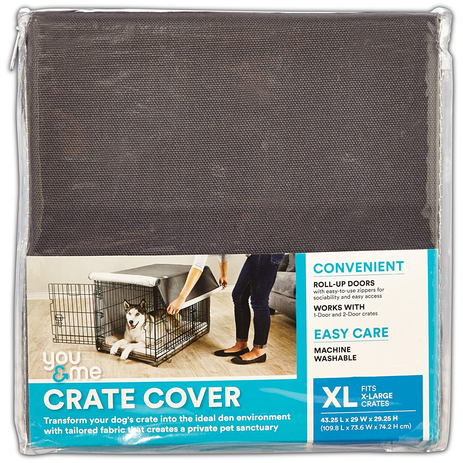 You/&Me Dog Crate Cover in Grey 37 Large You /& Me