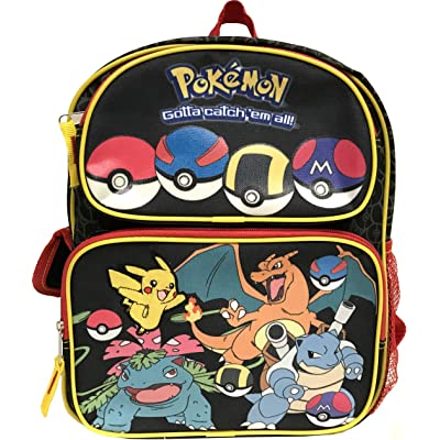 "New Nintendo Pokemon Go Pikachu & Friends Boys 16"" School Backpack 