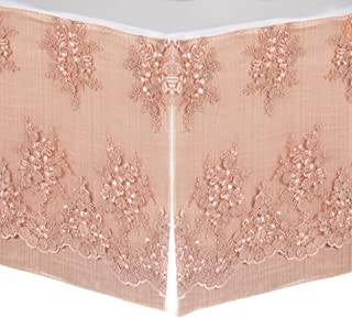 product image for Glenna Jean Remember My Love Dust Ruffle Mini Crib Skirt, Pink
