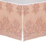 Glenna Jean Remember My Love Dust Ruffle Mini Crib Skirt, Pink