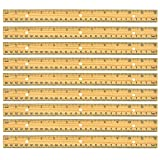 Geddes Home Office 12-Inch Wood Ruler - Set of 24