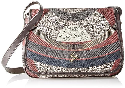 Gattinoni Gplb031, Borsa a Tracolla Donna, Grigio (Tibetan), 9x20x30 cm (W  x H x L) Amazon.it Scarpe e borse