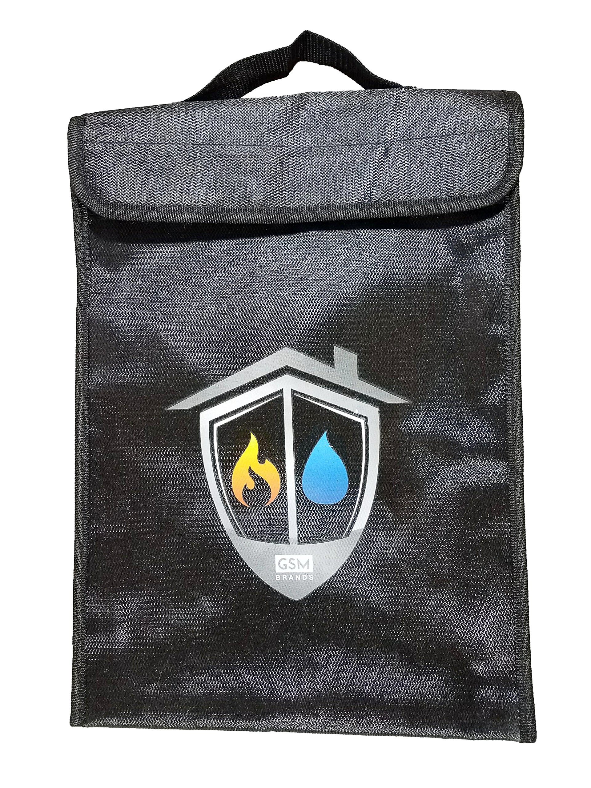 Fireproof Bag - Fire and Water Resistant Safe Pouch for Money and Document Safekeeping (15'' x 11'' x 2'')