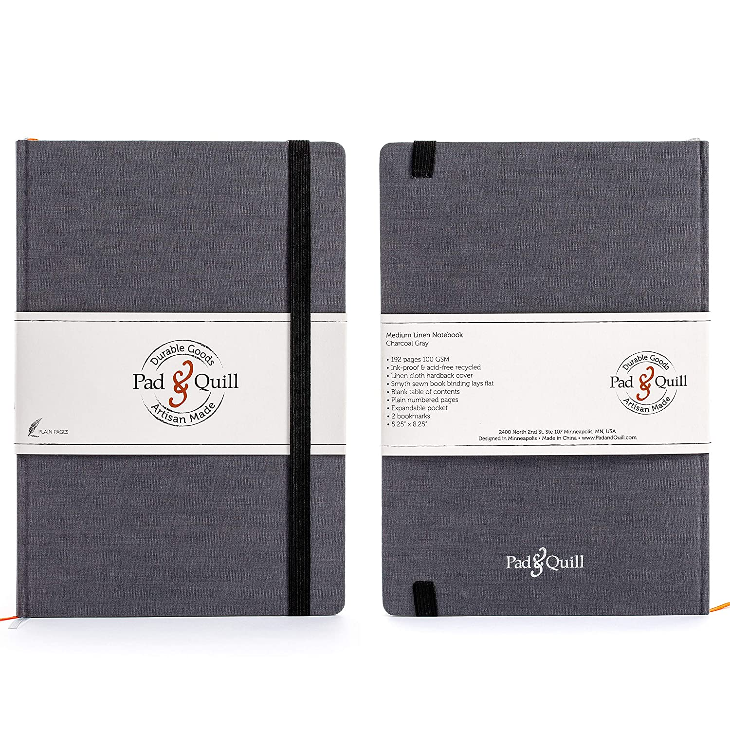 pad & quill a5 journal notebooks front and back