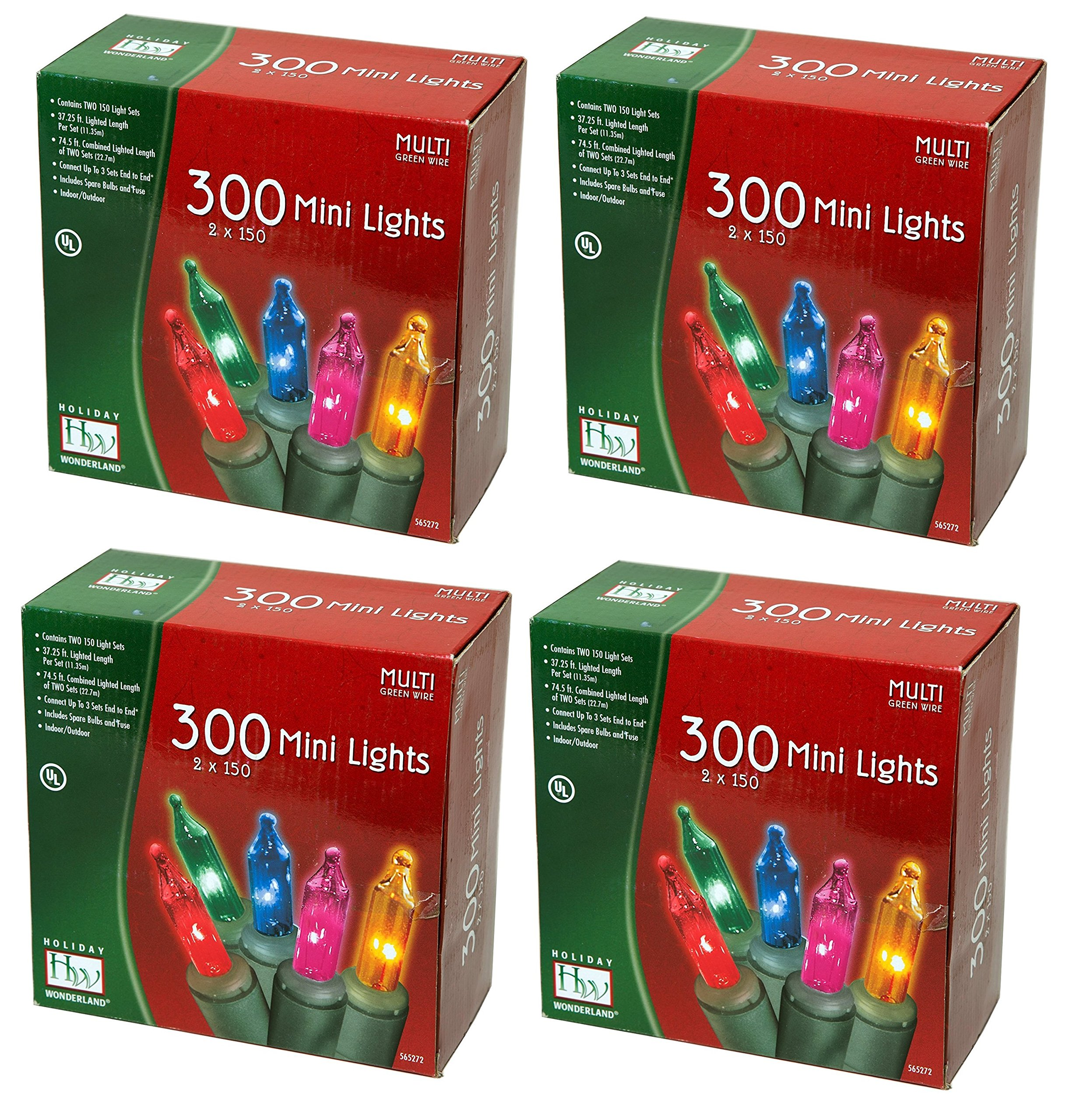 Noma/Inliten Holiday Wonderland's 300 Mini Lights Set (Pack of 4) by Noma/Inliten