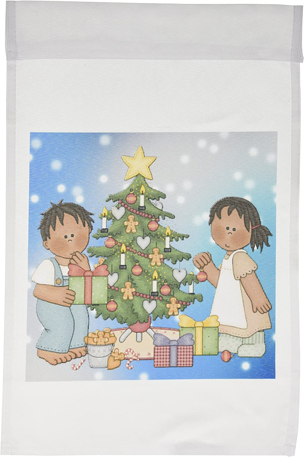 Amazon Com 3drose Fl 128842 1 African American Cartoon Kids Around The Christmas Tree And Presents With A Starry Background Garden Flag 12 By 18 Inch Outdoor Flags Garden Outdoor Here you can explore hq cartoon christmas tree transparent illustrations, icons and clipart with filter setting like size, type, color etc. amazon com