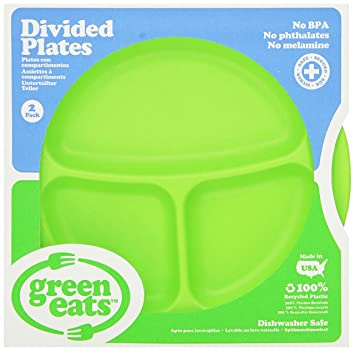 Green Eats 2 Pack Divided Plates Green  sc 1 st  Amazon.com & Amazon.com : Green Eats 2 Pack Divided Plates Green : Disposable ...