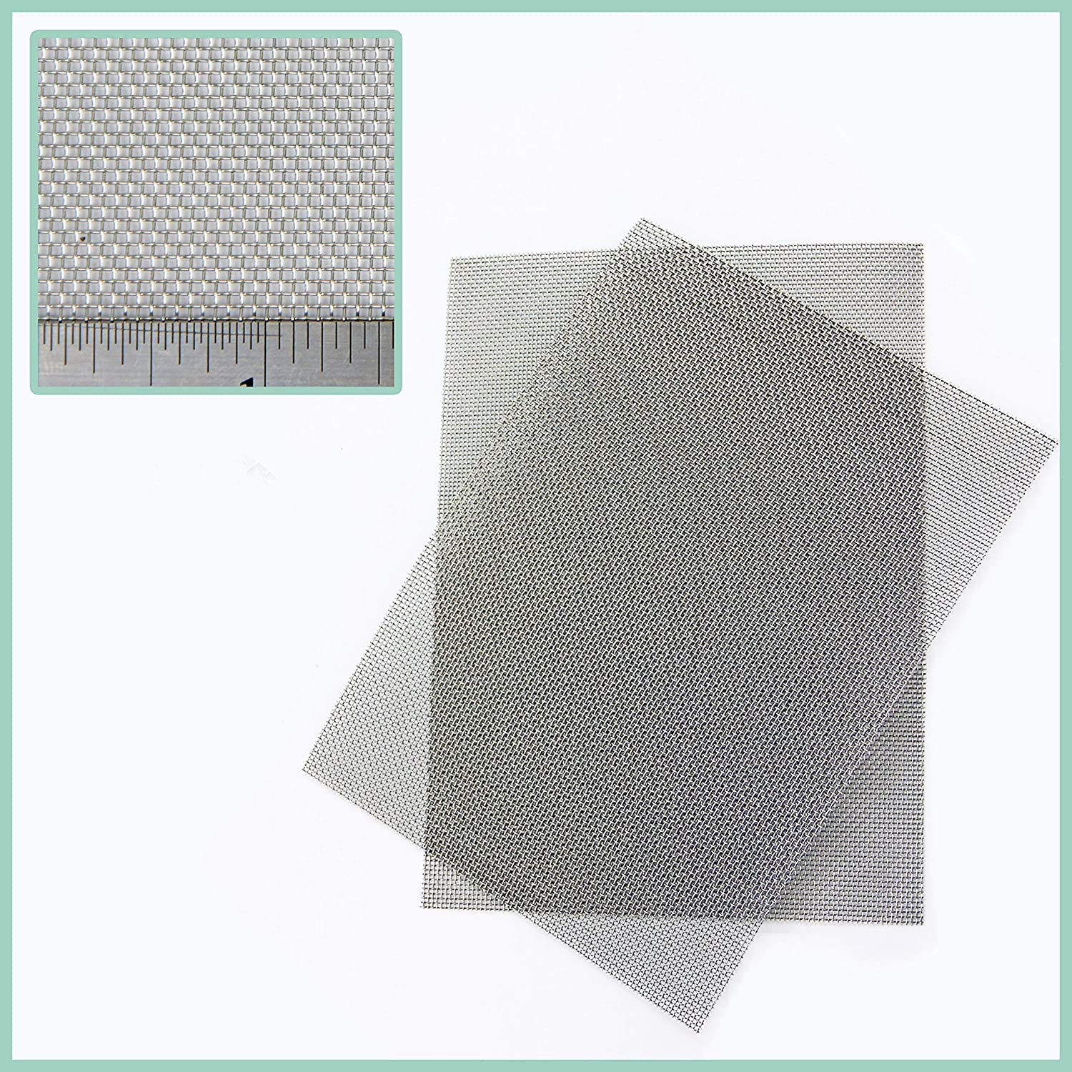 Rodent Mesh - Stainless Steel - 2 PACK- A5 Sheet (150 x 210mm) x 2 - Easy To Cut and Install The Mesh Company