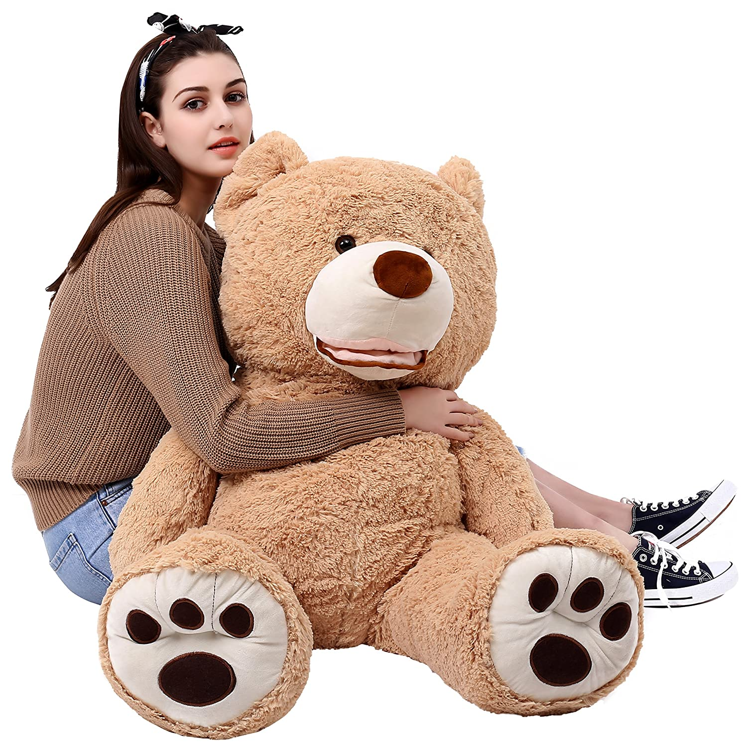 MorisMos Giant Teddy Bear with Big Footprints