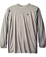 Champion Men's Big & Tall Long-Sleeve Pieced Active Crew T-Shirt