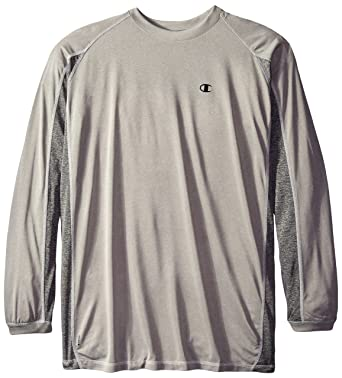 bba535452 Champion Men's Big & Tall Long-Sleeve Pieced Active Crew T-Shirt at Amazon  Men's Clothing store: