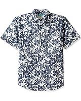 Margaritaville Men's Floral Shadows Bbq Shirt