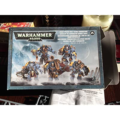 Games Workshop Wolf Guard Space Marine Terminator Squad Warhammer 40k: Toys & Games