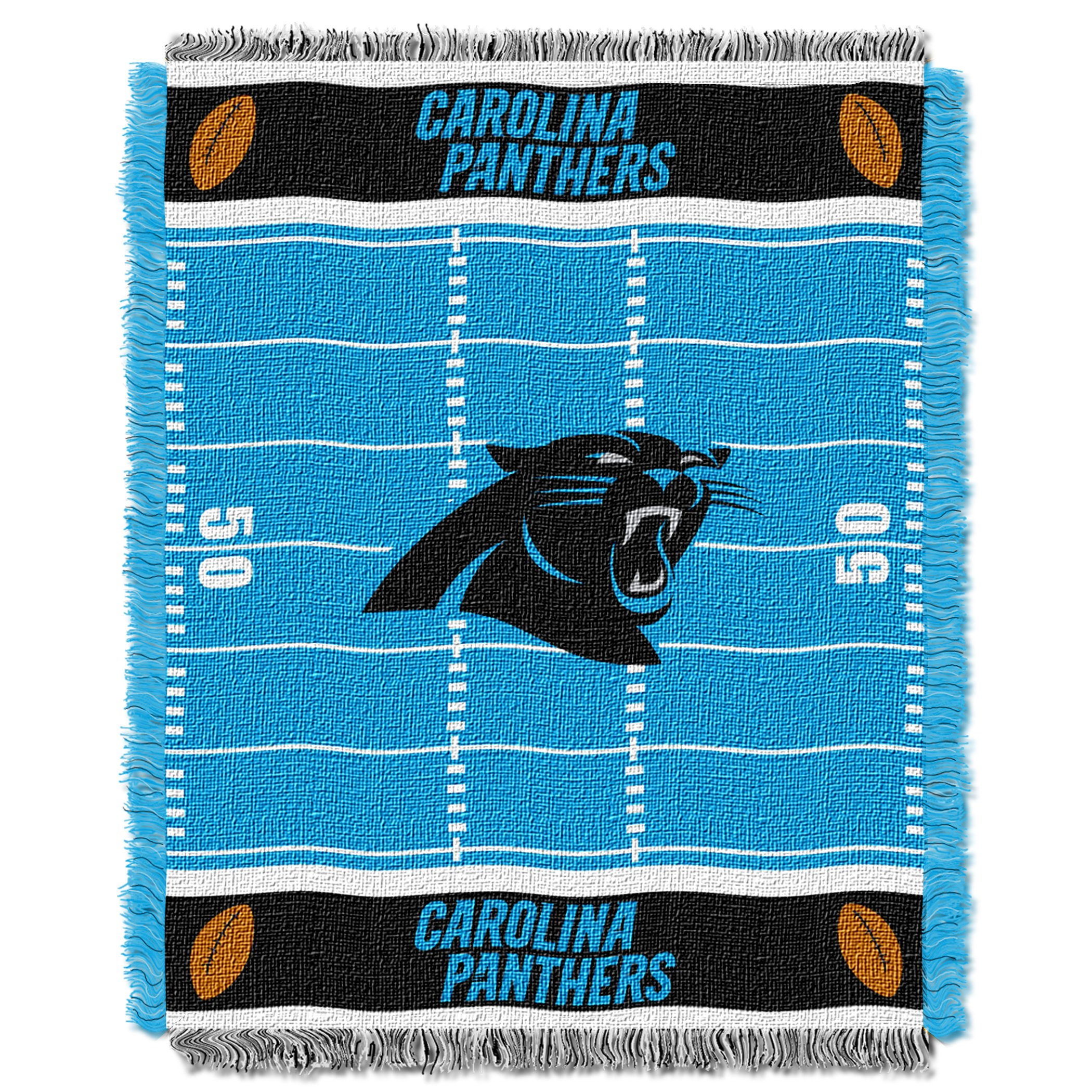 The Northwest Company Officially Licensed NFL Carolina Panthers Field Bear Woven Jacquard Baby Throw Blanket, 36'' x 46'', Multi Color by The Northwest Company