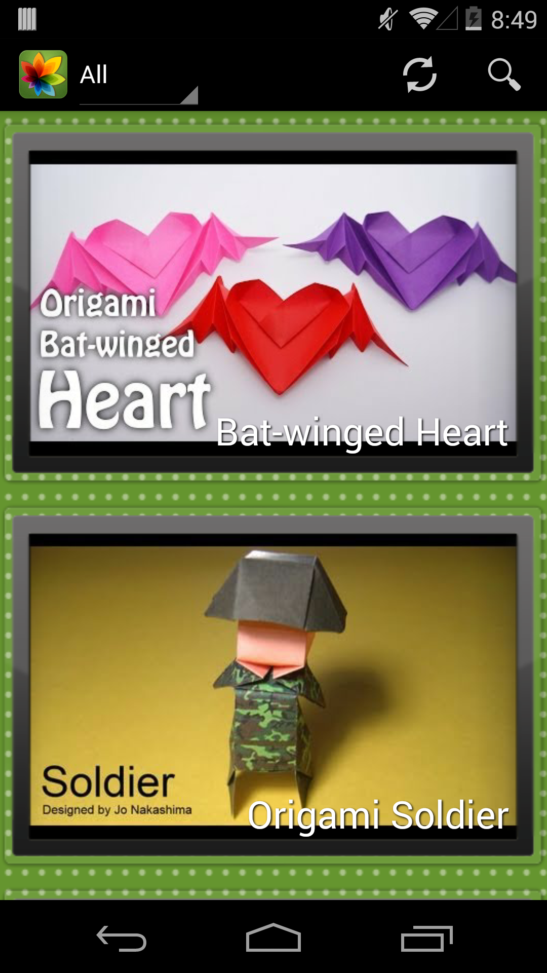 learn paper origami free video tutorials and
