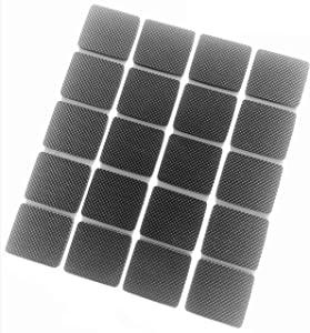 20PCS self-Adhesive Square Rubber Furniture Cushion, Protect Furniture Floor, Used for Furniture feet, Ceramic Tile, Wood Floor, Door Wall Flowerpot, Super self-Adhesive Rubber Cushion