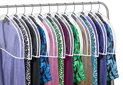 Beau Clear Vinyl Shoulder Covers Closet Suit Protects Storage Home Decor Set Of  12, 12u0026quot;