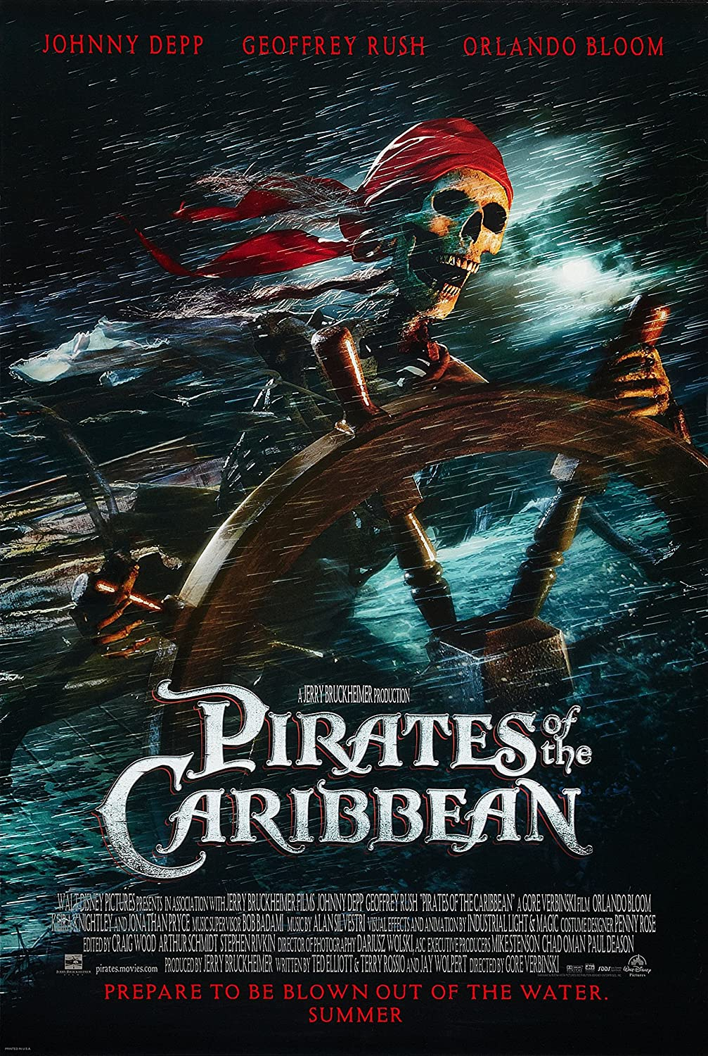 Amazon Com Jionk Pirates Of The Caribbean The Curse Of The Black Pearl 2003 Movie Poster 24x36 Home Kitchen