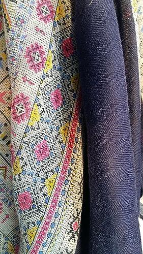 Hope1967 – Foulard de Mujer estampado color azul y rosas