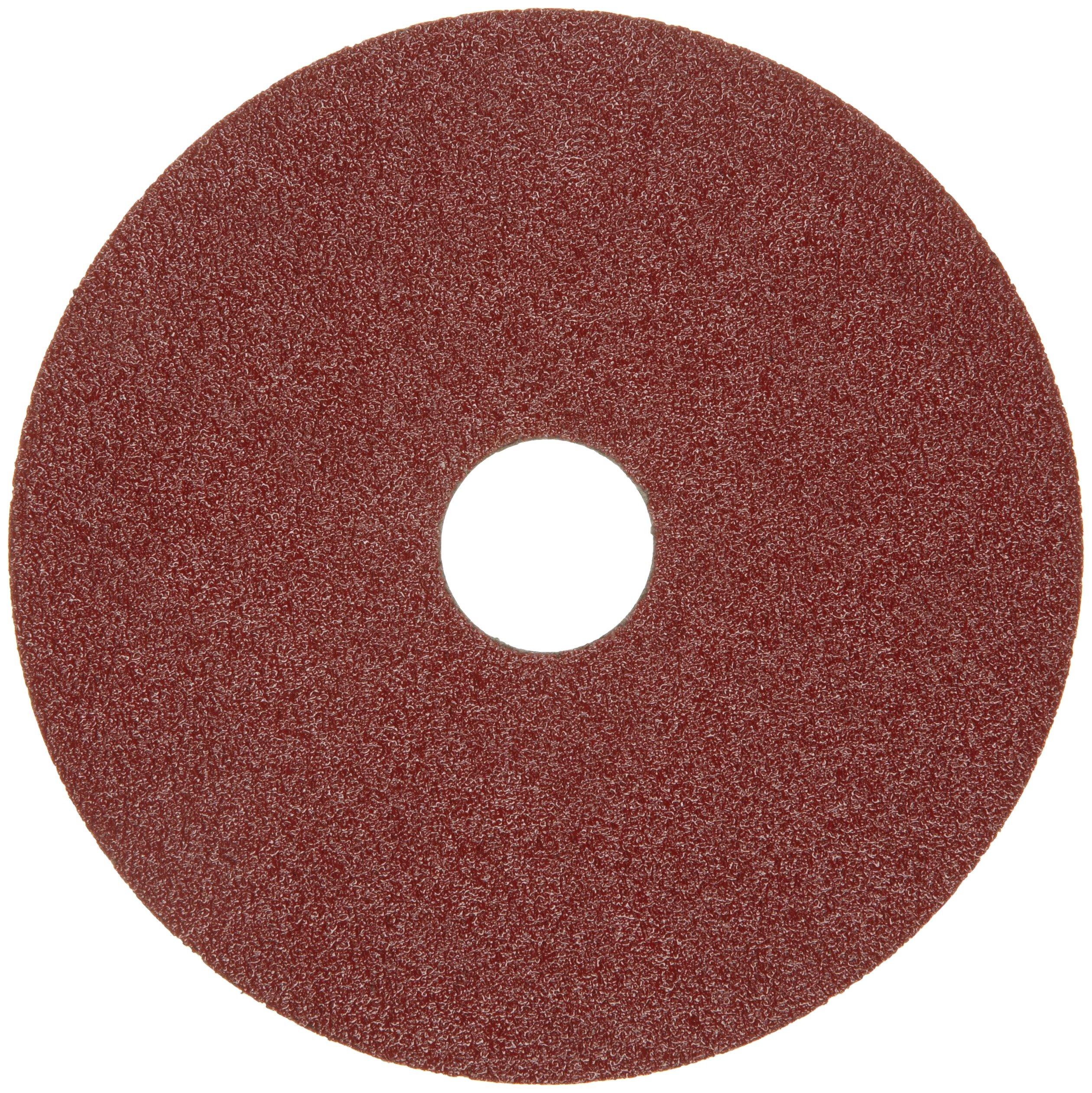 Merit Resin Abrasive Disc, Fiber Backing, Aluminum Oxide, 7/8'' Arbor, 7'' Diameter, Grit 100 (Box of 25)