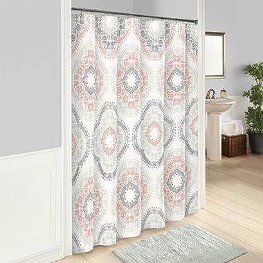 Marble Hill Sabina Shower Curtain, 72  x 72 , Aqua
