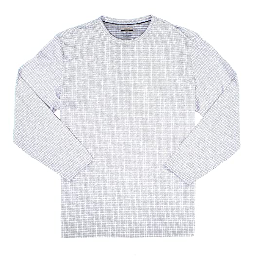 d03fde83402f0 Amazon.com  Alfani Active Steel Jacquard Knit Mens Long Sleeve Tee  Clothing