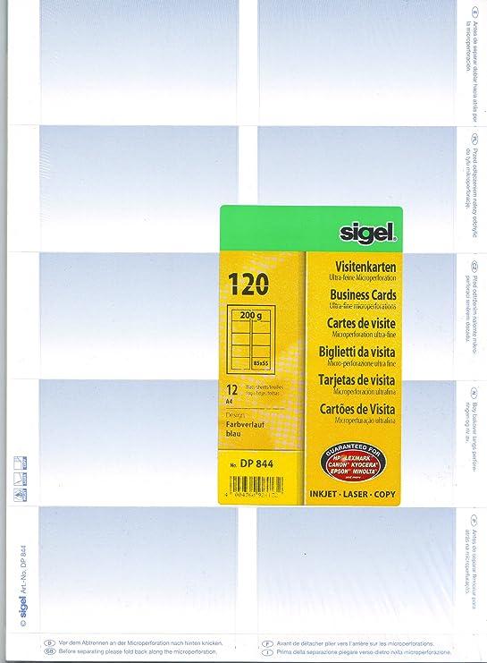 Sigel Drucken Sie Ihre Eigenen Visitenkarten Dp844