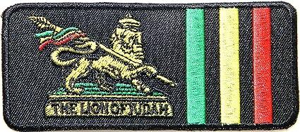 El León de judá Rasta Rastafari Jamaica Reggae ejército Militar Logo chaqueta camiseta parche coser hierro en bordados Badge Sign disfraz por panicha ...