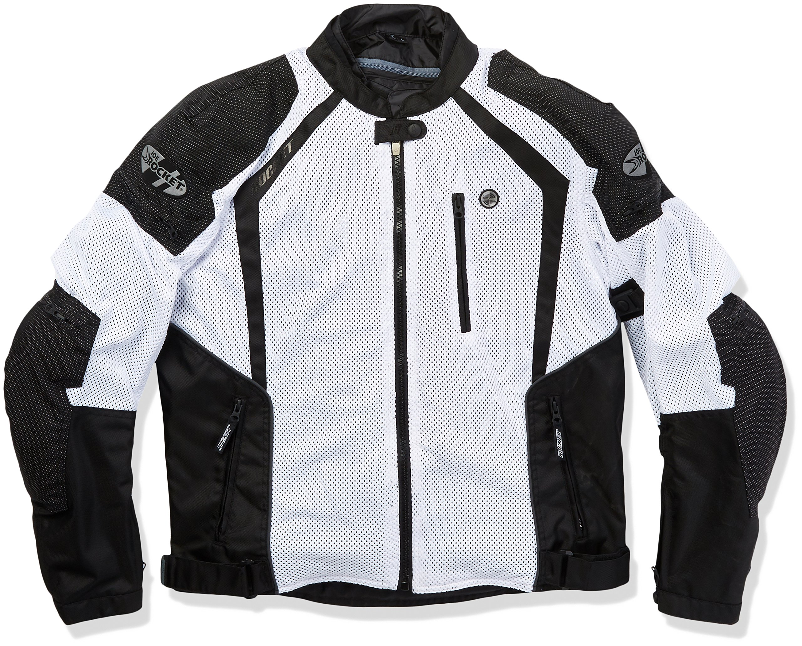 Joe Rocket 1516-4704 Phoenix Ion Men's Mesh Motorcycle Jacket (White, Large)