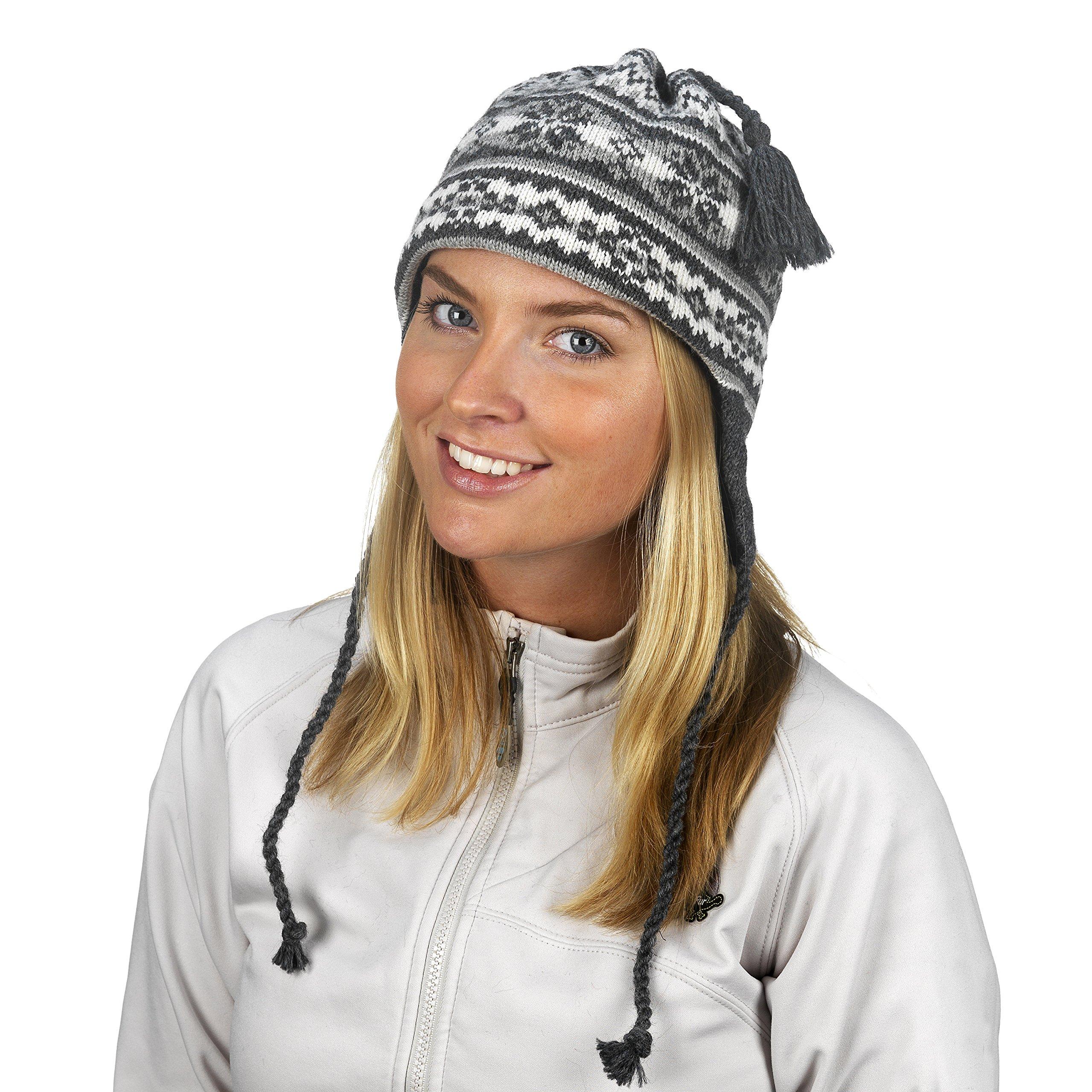 Turtle Fur Women's Nighthorse, Classic Wool Ski Earflap Hat, Charcoal Heather by Turtle Fur (Image #2)