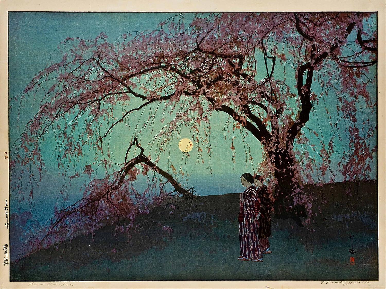 Amazon.com: Hiroshi Yoshida: Kumoi-Zakura (Kumoi Cherry Trees). Fine Art  Print/Poster (16 x 12 Inches): Posters & Prints