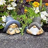Figuras decorativas (resina, 2 piezas), diseño de gnomo.