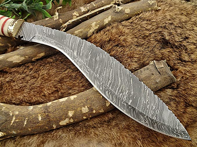 "Amazon.com: Custom made – 15"" Kukri Cuchillo de acero ..."